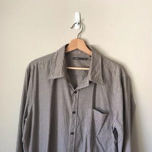 Vince Striped Button Down Shirt XL